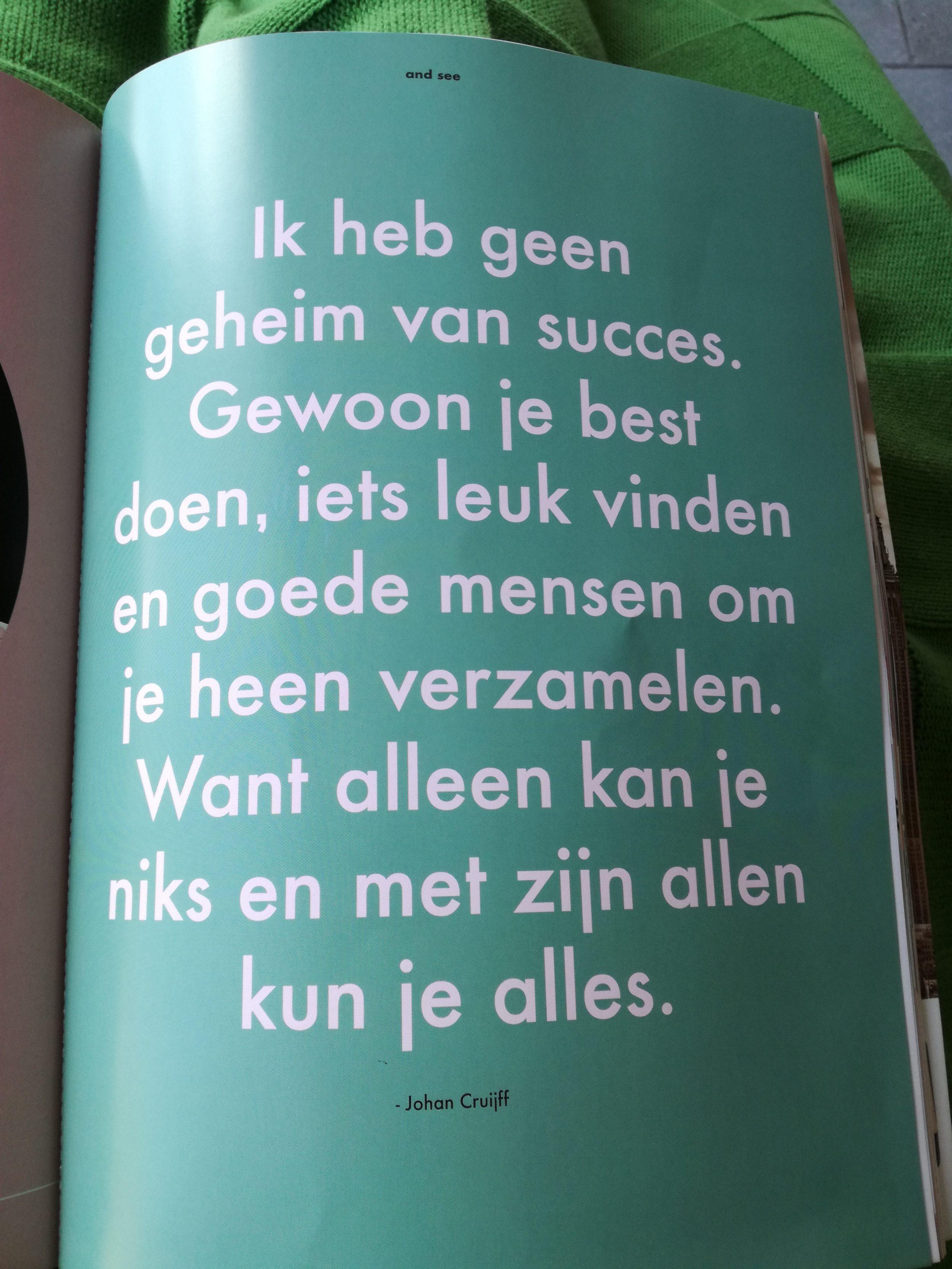 Wijze woorden van Johan Cruijff